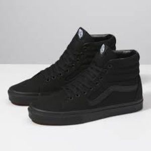 Vans high top black sneakers